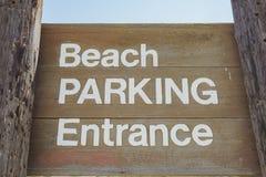 Het teken van het strandparkeren Royalty-vrije Stock Foto's