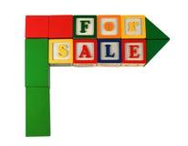 Het teken van het stuk speelgoed - verkoop stock fotografie
