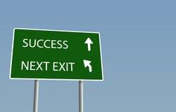 Het teken van het succes Stock Foto