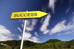 Het Teken van het succes Stock Fotografie