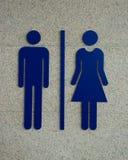Het teken van het toilet Stock Foto