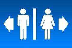 Het teken van het toilet vector illustratie