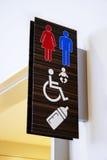 Het teken van het toilet royalty-vrije stock afbeeldingen