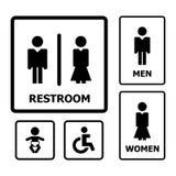 Het Teken van het toilet stock illustratie