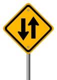 Het teken van het tweerichtingsverkeer Stock Afbeelding