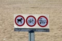 Het teken van het verbod Stock Foto's