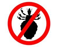 Het teken van het verbod voor luizen royalty-vrije illustratie