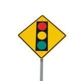 Het teken van het verkeerslicht Royalty-vrije Stock Afbeeldingen