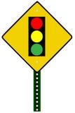 Het teken van het verkeerslicht Stock Afbeeldingen