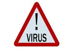 Het teken van het virus Stock Foto