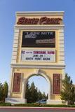 Het Teken van het zuidenpunt in Las Vegas, NV op 18 Mei, 2013 Stock Afbeeldingen