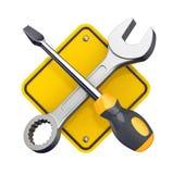 Het teken van hulpmiddelen. vector illustratie