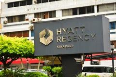 Het Teken van Hyatt Regency Kinabalu in Kota Kinabalu, Maleisië Royalty-vrije Stock Foto