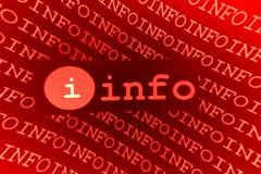 Het teken van info Stock Foto