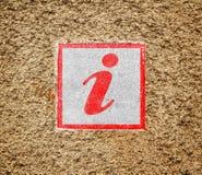 Het teken van info stock foto's