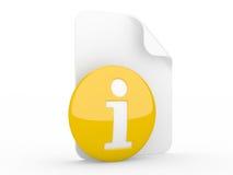 Het teken van info Stock Afbeeldingen