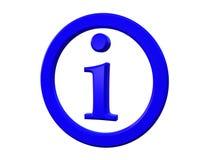 Het teken van info stock illustratie