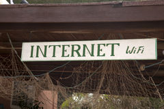 Het Teken van Internet Wifi Royalty-vrije Stock Foto's