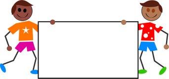 Het teken van jonge geitjes vector illustratie