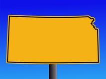 Het teken van Kansas van de waarschuwing royalty-vrije illustratie