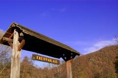 Het teken van Kneippanlage Stock Foto's