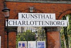 Het teken van Kunsthalcharlottenborg Royalty-vrije Stock Foto