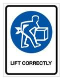 Het Teken van het lift correct Symbool, Vectorillustratie, isoleert op Wit Etiket Als achtergrond EPS10 stock illustratie