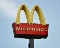 Het teken van McDonald Royalty-vrije Stock Fotografie