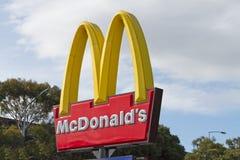 Het teken van McDonalds Stock Foto