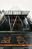 Het teken van het mislukkingseinde en het Leadenhall-Gebouw, financieel district, Stad van Londen royalty-vrije stock foto's