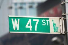 Het teken van New York Stock Fotografie
