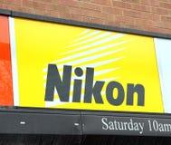 Het Teken van Nikon stock afbeelding
