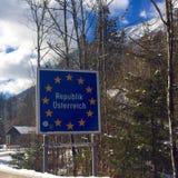 Het teken van Oostenrijk Stock Foto