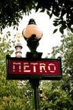 Het teken van Parijs Metropolitain royalty-vrije stock foto's
