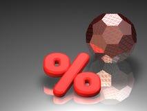 Het teken van percenten royalty-vrije illustratie