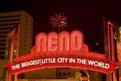 Het teken van Reno Stock Afbeeldingen