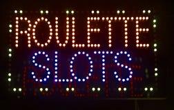 Het teken van roulettegroeven stock fotografie
