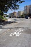 Het teken van San Francisco Twin Peaks Bike Stock Fotografie