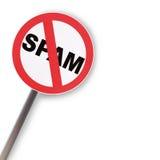 Het teken van Spam Stock Afbeelding