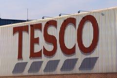 Het teken van Tesco royalty-vrije stock foto's