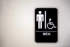 Het Teken van het toilet stock fotografie