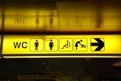 Het teken van toiletten Stock Afbeelding