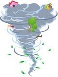 Het teken van tornado Stock Foto