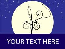 Het teken van Tree_moon vector illustratie