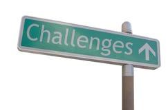Het Teken van uitdagingen Royalty-vrije Stock Afbeeldingen