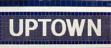 Het teken van Uptown stock afbeeldingen