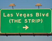 Het Teken van Vegas Blvd van Las Stock Afbeelding