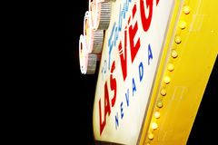 Het teken van Vegas van Las stock afbeeldingen