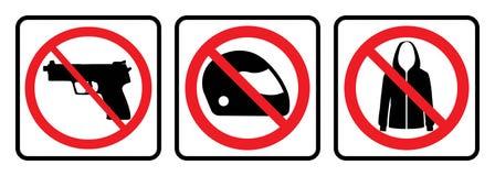 Het teken van het verbod royalty-vrije illustratie