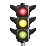 Het teken van verkeerslichten Stock Afbeeldingen